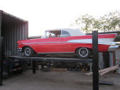 1957 Chevy Bel Air Convertible Container Loading Malefors International