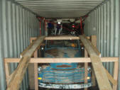 Chevy Five Window and Dirtbikes Container Loading Malefors International
