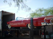 1956 Cadillac ElDorado Barritz Convertible Container Loading Malefors International