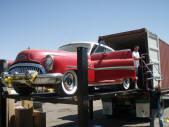 Red 1953 Buick Container Loading Malefors International