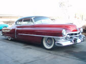 Custom 1950 Cadillac Series 62 Coupe 2drht Candy Apple Red LS1 Air Suspension Copperstate Classic Cars