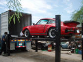 Porsche Whaletail Container Loading Malefors International