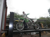 Bo Malefors with two Dirtbikes Container Loading Malefors International